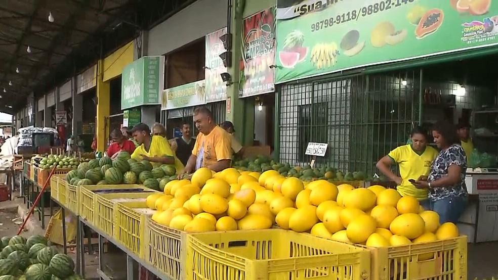 Mercadorias ainda existentes na Empasa são de estoque dos comerciantes (Foto: Reprodução/TV Cabo Branco)