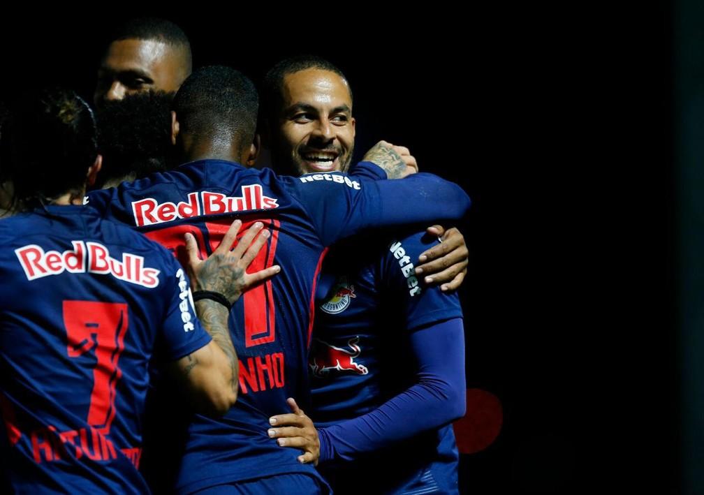 Comemoração do Bragantino em gol de Ytalo — Foto: Ari Ferreira/Red Bull Bragantino