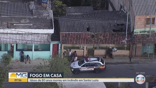 Idoso morre em incêndio em casa na cidade de Santa Luzia, na Grande BH