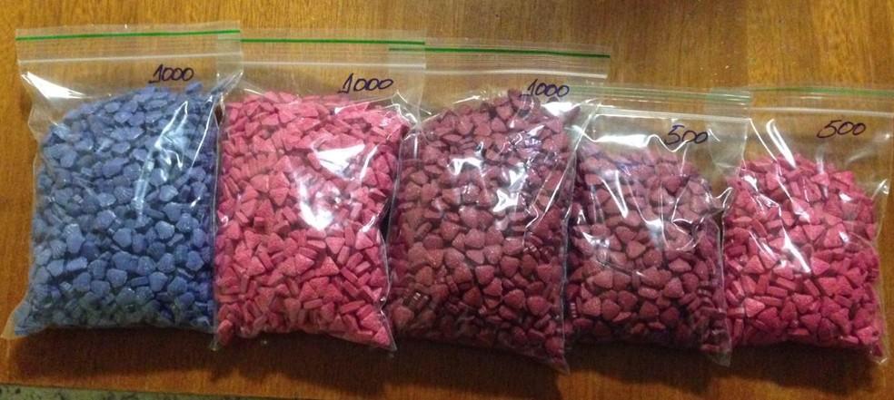 Material apreendido com casal que vendia drogas para o DF e 12 estados — Foto: Polícia Civil do DF/Divulgação