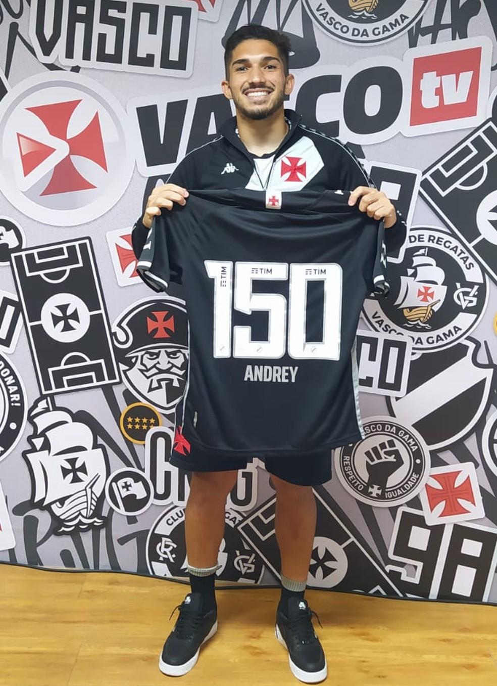 Andrey completou 150 jogos pelo Vasco — Foto: Carlos Gregório Jr. / Vasco
