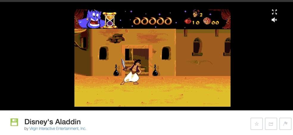 Cada game do Internet Archive tem comandos diferentes — Foto: Reprodução/Felipe Vinha