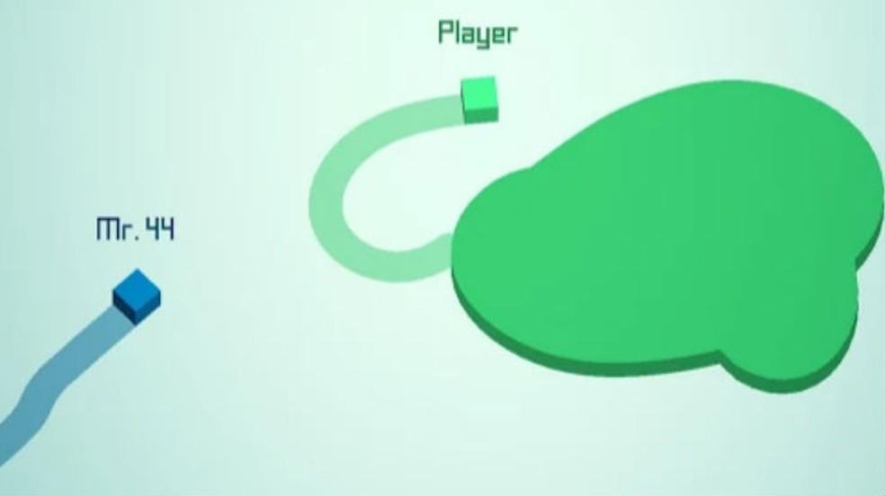 O objetivo de Paper.io 2 é preencher o mapa com uma cor enquanto elimina outros cubos — Foto: Divulgação/VOODOO