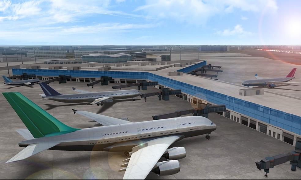 Airline Commander traz aeroportos completos ao jogador — Foto: Divulgação/RORTOS