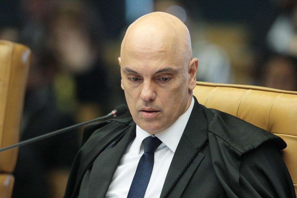 O ministro Alexandre de Moraes em sessão do plenário do STF em junho — Foto: Carlos Moura / SCO/STF