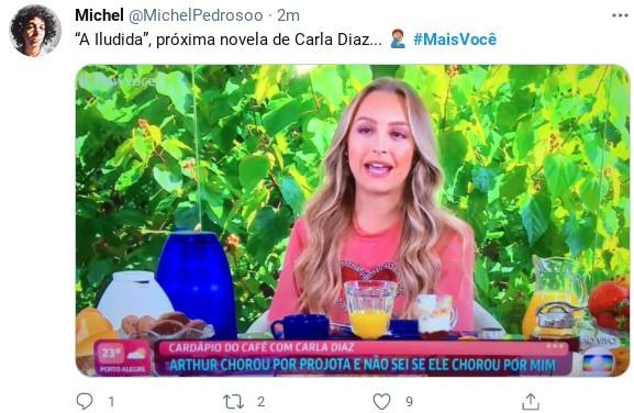 Internautas fazem piada com entrevista de Carla Diaz ao 'Mais você' (Foto: Reprodução)