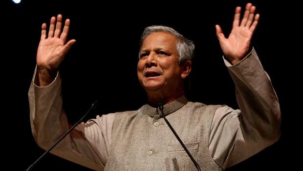 Mohammad Yunus, banqueiro indiano ganhador do Prêmio Nobel da Paz  (Foto: Getty Images)