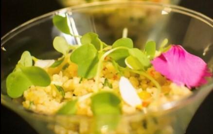 A salada de cuscuz marroquino