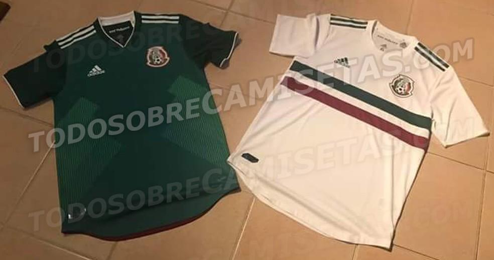 Camisas do México para a Copa do Mundo de 2018 (Foto: Reprodução / Todo Sobre Camisetas)