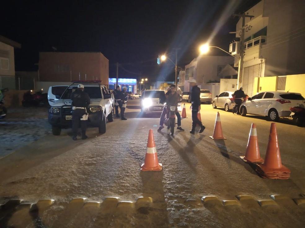 Operação Lei Seca aconteceu em Santa Cruz, RN, neste fim de semana — Foto: Lei Seca/Divulgação