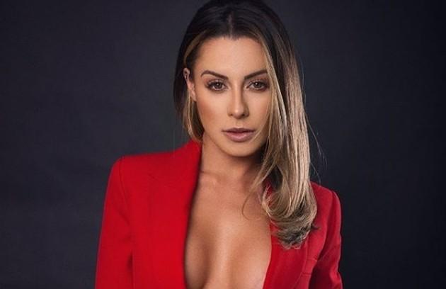 A modelo Aricia Silva foi Panicat no extinto programa da Band (Foto: Reprodução)