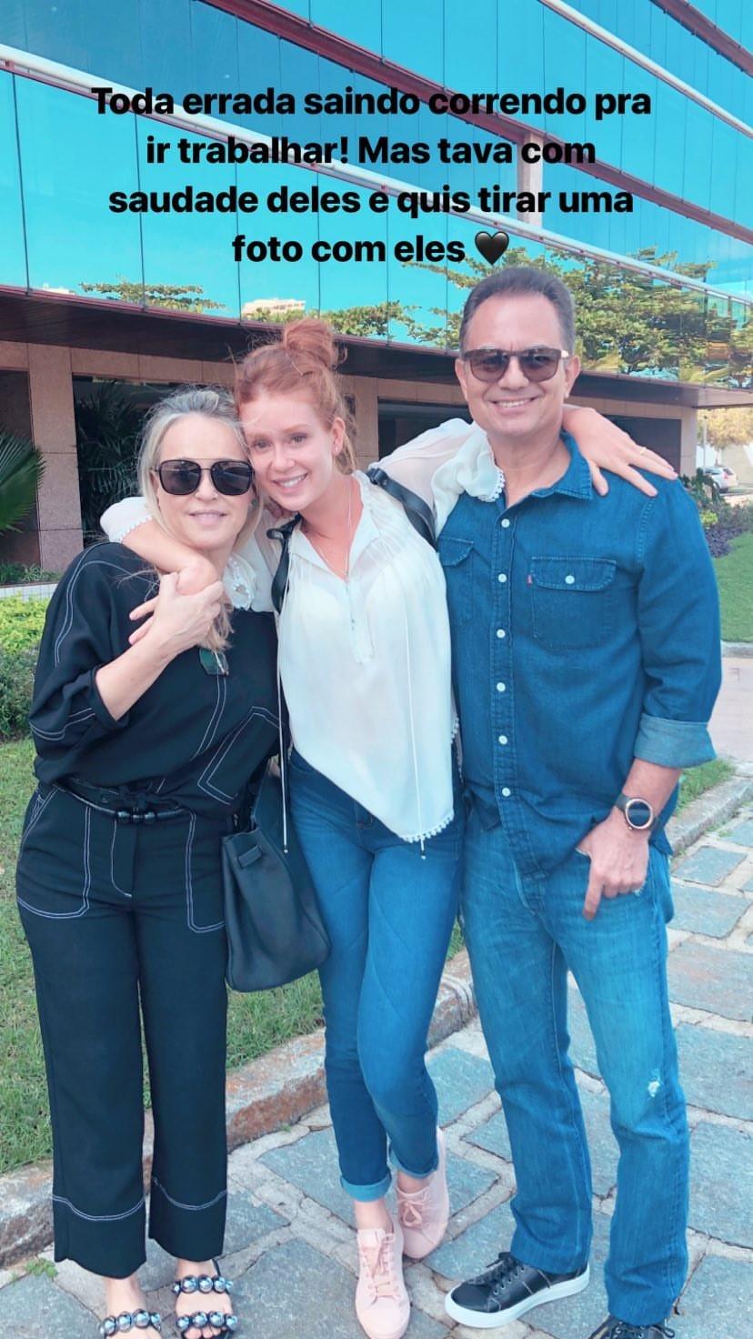 Marina Ruy Barbosa com os pais (Foto: Reprodução)