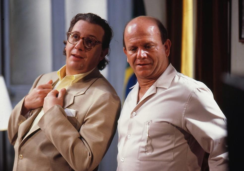 Marco Nanini e Cecil Thiré em 'Pedra sobre pedra' — Foto: Divulgação/TV Globo