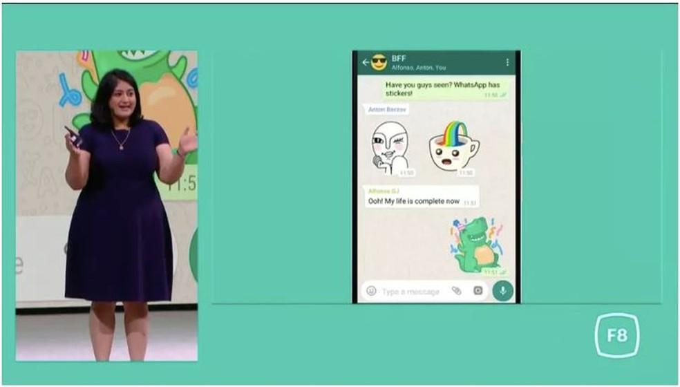 Stickers chegarão ao WhatsApp nos próximos meses (Foto: Reprodução/ The Verge)