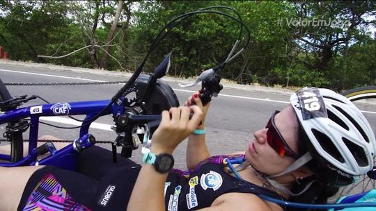 Brasileira sonha ser a primeira cadeirante a completar um Meio Ironman