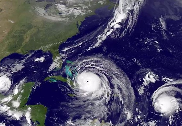 Furacões Irma, José e Katia no Caribe (Foto: EFE/EPA)