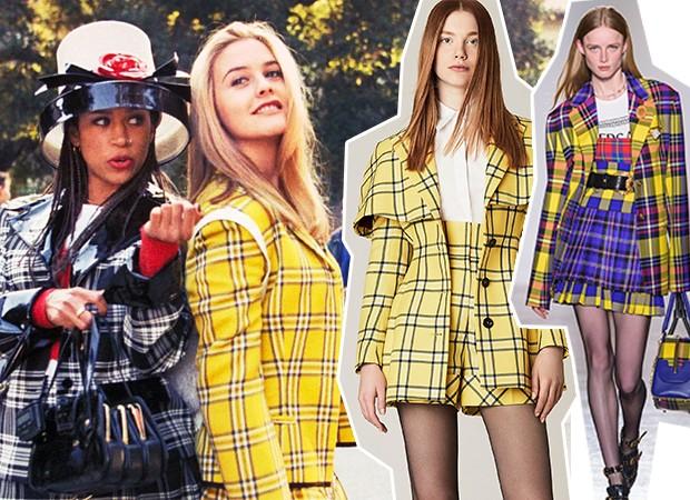 MFW: Sara Battaglia e Versace se inspiraram na tendência de Patricinhas de Beverly Hills  (Foto: Divulgação/Imaxtree)