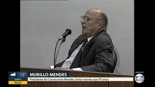 Morre Murillo Mendes, presidente da Mendes Júnior, aos 93 anos em BH