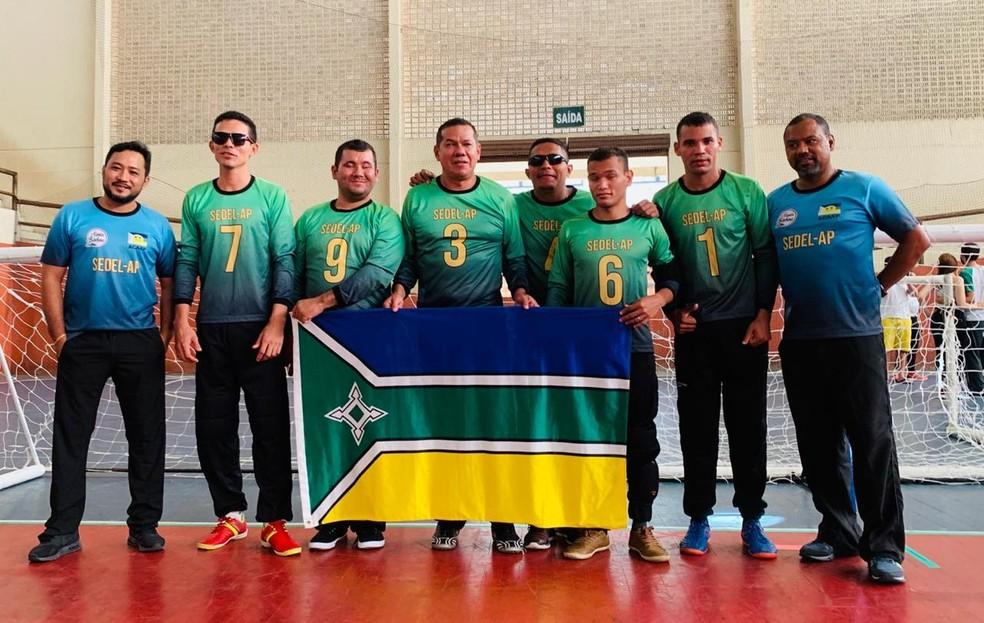 Equipe amapaense ficou na terceira posição na Taça Pará de Goalball — Foto: Rodrigo Ikegami/Arquivo Pessoal
