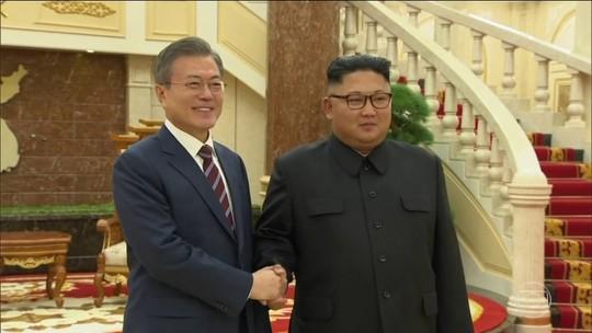 Presidente sul-coreano chega à Coreia do Norte para 3ª cúpula com Kim Jong-un