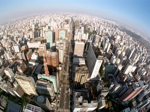 Vista aérea da cidade de São Paulo na região da Avenida Paulista (Foto: Agliberto Lima / ESTADÃO CONTEÚDO)