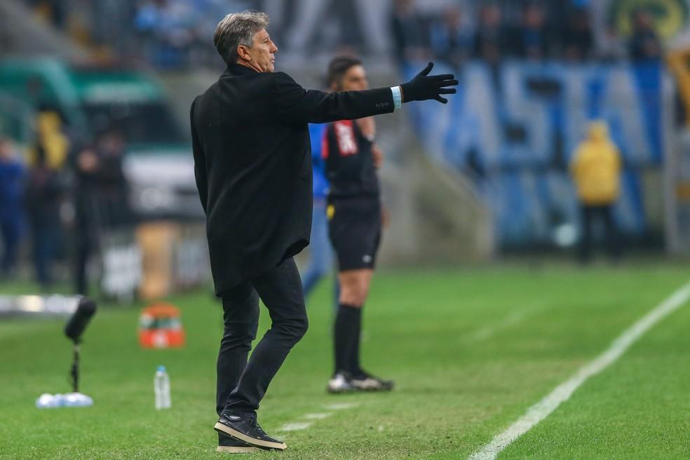 Renato gostou da atuação contra o Bahia — Foto: Lucas Uebel/Grêmio FBPA