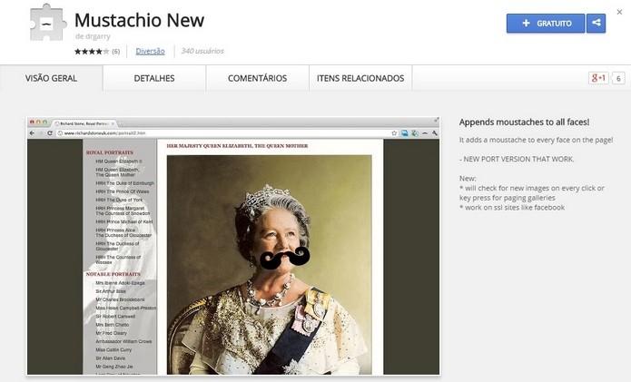 Mustachio New adiciona bigodes nas fotos de qualquer pessoa na web (Foto: Reprodução/Raquel Freire)