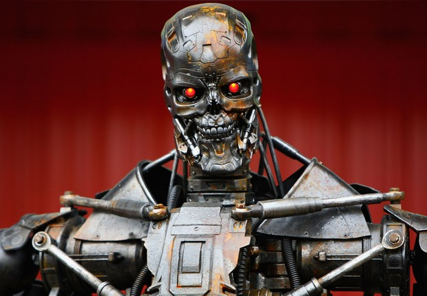 "Robô do filme de ficção-científica ""O Exterminador do Futuro"" (Foto: Paul Gilham/Getty Images)"