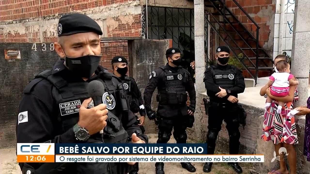 Bebê com engasgo é salvo por equipe do Raio em Fortaleza