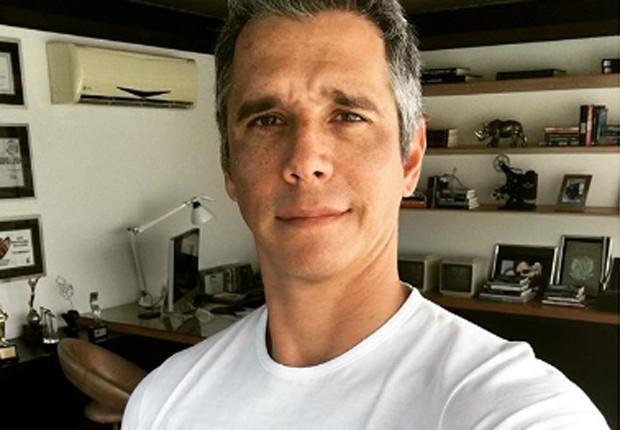 Márcio Garcia no escritório de sua casa antes de retomar as gravações do 'Tamanho Família' (Foto: Reprodução/Instagram)