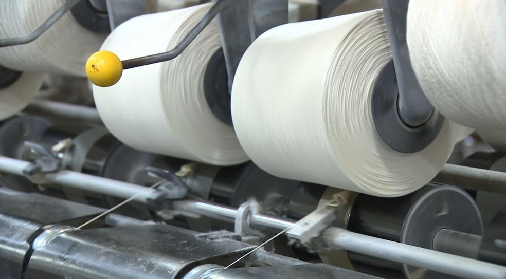 Indústria têxtil de Americana (SP) — Foto: Reprodução/EPTV