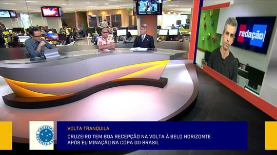 """Jornalistas do Redação SporTV exaltam """"recepção amistosa"""" da torcida do Cruzeiro"""
