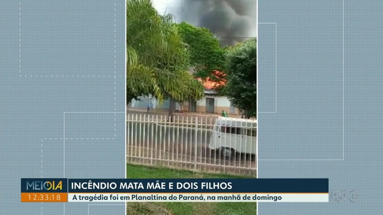 Três pessoas morrem em incêndio em Planaltina do Paraná