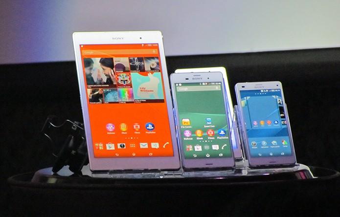 Smartphones e tablet da linha Xperia Z3 chegam ao Brasil a partir de R$ 2099 (Foto: Paulo Alves/TechTudo) (Foto: Smartphones e tablet da linha Xperia Z3 chegam ao Brasil a partir de R$ 2099 (Foto: Paulo Alves/TechTudo))