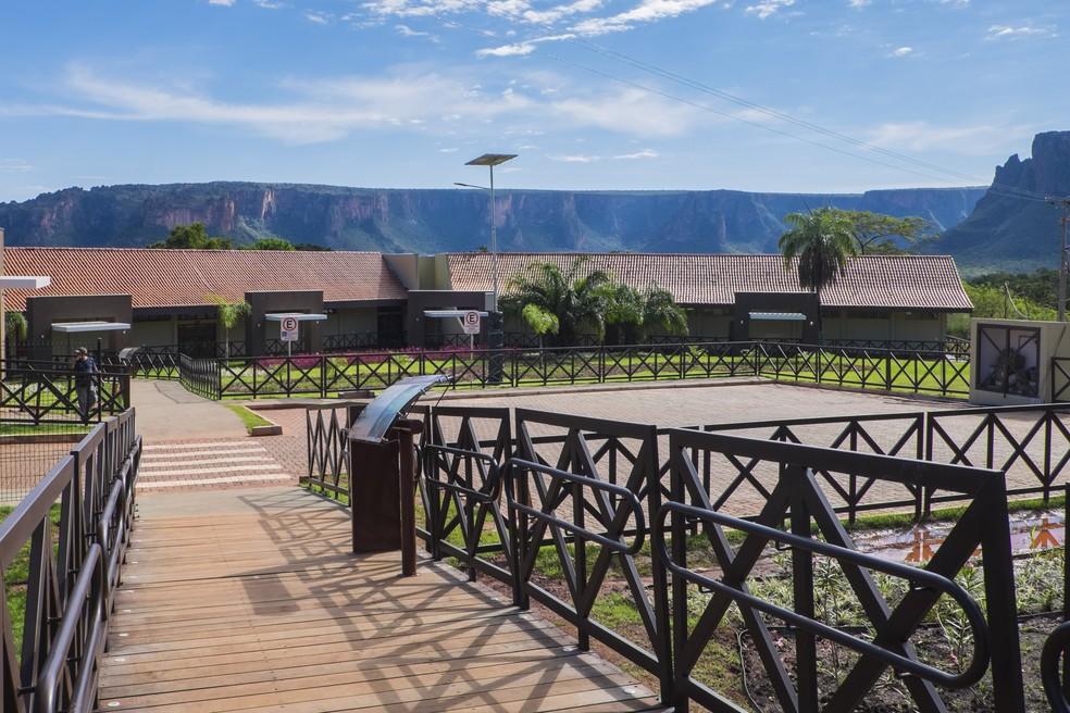 Complexo Turístico da Salgadeira teve inauguração adiada, mas já foi concluído, segundo o governo (Foto: Gcom-MT)