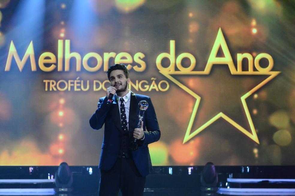 Luan Santana em 2015 no Melhores do Ano (Foto: Globo/Renato Rocha Miranda)