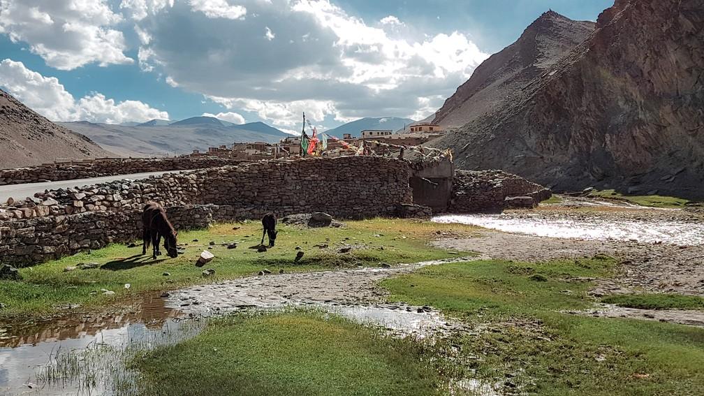 Assentamento tibetano de Sumdo, em Ladakh (Foto: Rafael Miotto / G1)