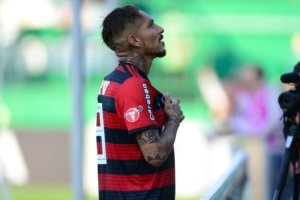 Guerrero comemora gol contra a Chapecoense  (Foto: Gilvan de Souza/Flamengo)