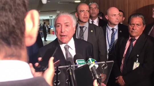 Temer diz que déficit pode ficar R$ 20 bilhões abaixo da meta fiscal estimada para 2018