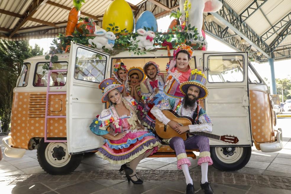 Trupe de Páscoa vai animar os visitantes em Gramado — Foto: Divulgação/Cleiton Thiele
