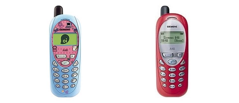 Usuários entravam em salas de bate-papo por SMS através do Siemens A40 — Foto: Divulgação/Siemens