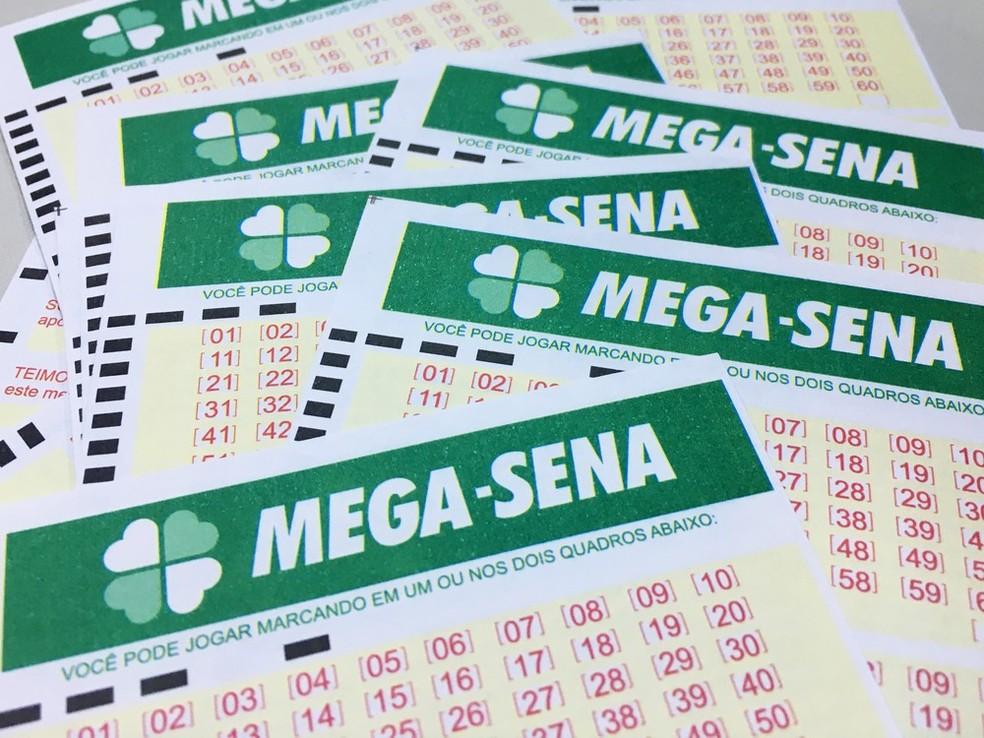 Bilhetes da Mega-Sena (Foto: Heloise Hamada/G1)