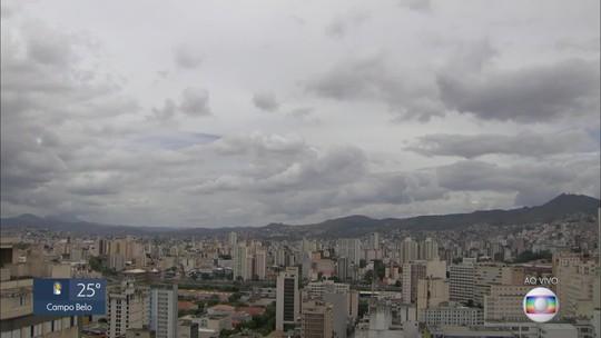 Defesa Civil emite alerta de pancadas de chuva com raios e rajadas de vento em BH
