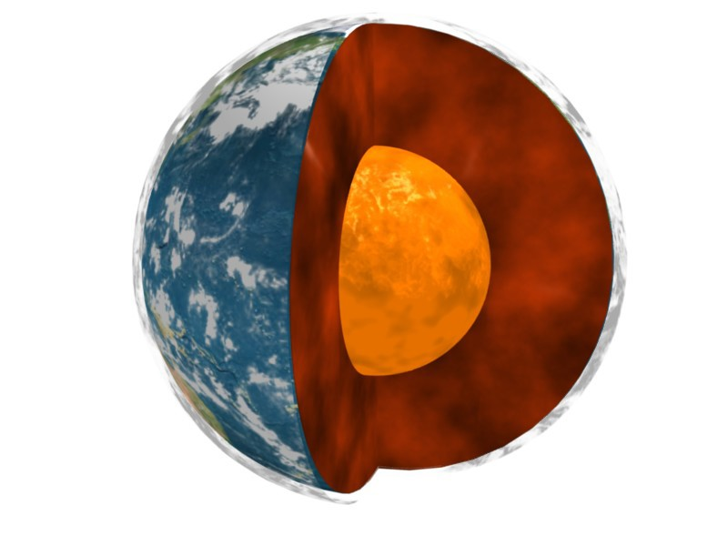 Núcleo da Terra é sólido. (Foto: NASA / JPL-Caltech)