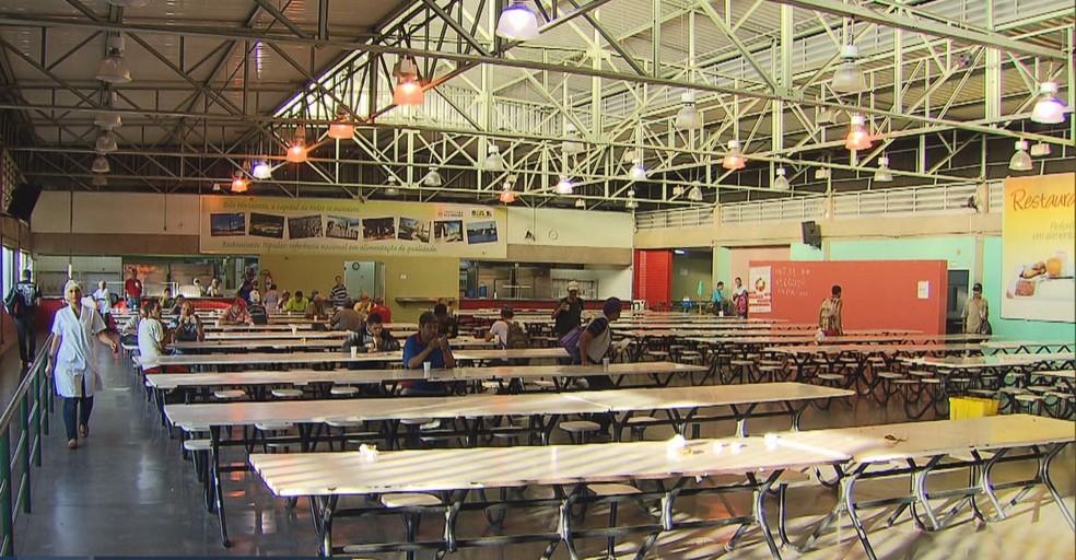 Restaurante Popular I, em BH, ficará fechado para obras de manutenção.  — Foto: Reprodução/TV Globo