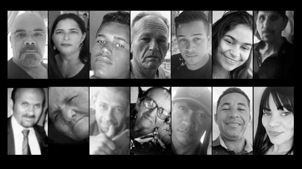 Vítimas de Alagoas que morreram no acidente com ônibus que caiu de um viaduto no interior de Minas Gerais — Foto: Arte G1