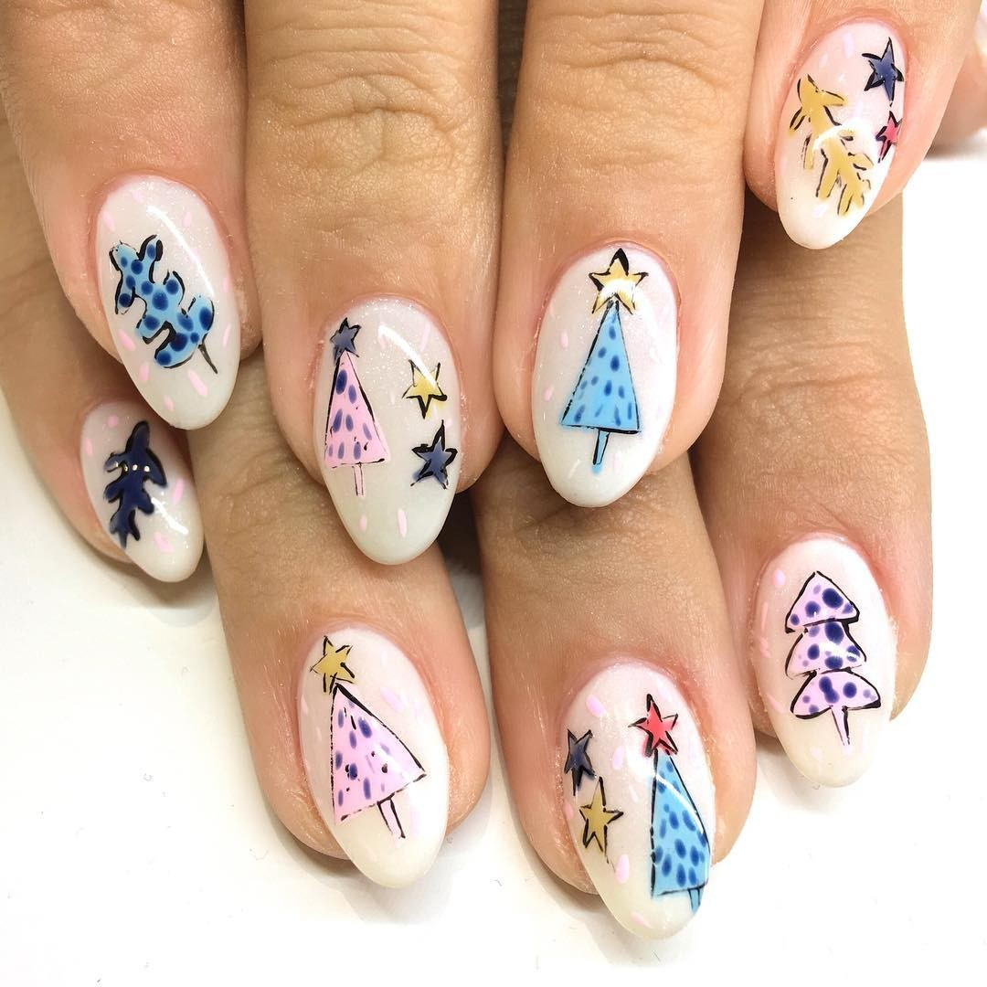 Unhas decoradas para o Natal (Foto: @nailthoughts)
