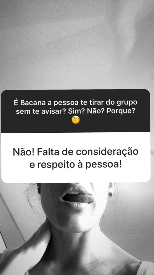 Gisele Itié reclama de ser tirada de grupo de conversas (Foto: Reprodução/Instagram)