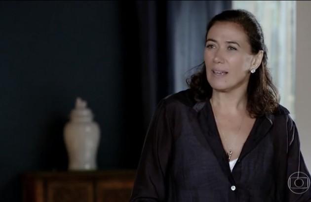 Na sexta (3), Griselda (Lilia Cabral) vai convidar Renê e Renê Jr. para irem morar em sua casa (Foto: Reprodução)