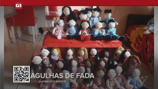 G1 em 1 minuto - Santos: Voluntárias fazem bonecas para crianças com câncer